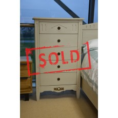 Pompadour 5 Drawer Tall Chest