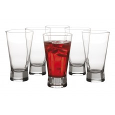 Maxwell & Williams Vertigo Set Of 6 Hi Ball Glasses