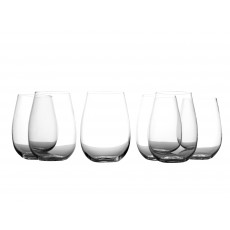 Maxwell & Williams Casa Domani Evolve Set Of 6 Stemless Glasses