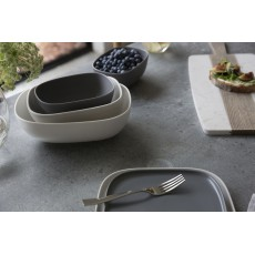 Maxwell & Williams Elemental 20.5cm Square Dinner Plate Charcoal