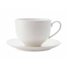 Maxwell & Williams White Diamonds 220ml Tea Cup & Saucer