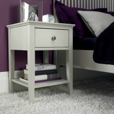 Julie 1 Drawer Bedside Locker Painted Grey