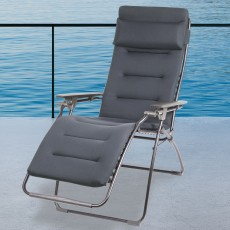 Lafuma Futura Air Comfort Acier/Dark Grey Reclining & Foldable Sun Chair
