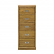 Athens Oak 5 Drawer Tallboy