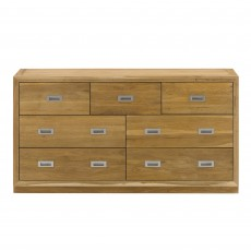 Athens Oak 4 + 3 Chest Of Drawers