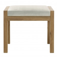 Athens Oak Bedroom Stool c/w Beige Fabric Seat Pad