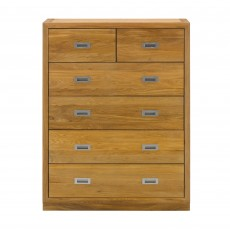 Athens Oak 4 + 2 Chest Of Drawers