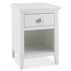 Lipari White Painted 1 Drawer Bedside Locker