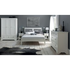 Lipari White Painted 5 Drawer Tallboy
