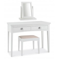 Lipari White Painted Bedroom Stool c/w Upholstered Seat Pad