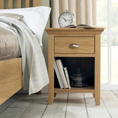 Lipari Oak 1 Drawer Bedside Locker