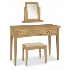 Lipari Oak Bedroom Stool c/w Upholstered Seat Pad