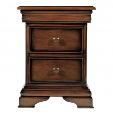 Normandie Mahogany 3 Drawer Bedside Locker