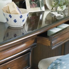 Normandie Mahogany Dressing Table c/w Vanity Mirror