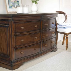 Normandie Mahogany 4 + 4 Wide Chest Of Drawers