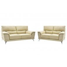 Benevento 3 Seater Sofa & 2 Seater Sofa Leather Category 10 Beige/Cream