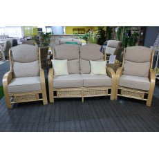 Daro Upton Natural 2 Seater Sofa + 2 Armchairs Fabric A