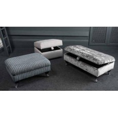 Duchess Footstool Fabric F