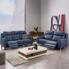 Cannetto Electric Reclining 3 Seater Sofa Leather Category 25