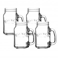 Kilner Set of 4 400ml/0.4L Handled Jars