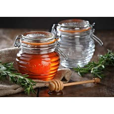 Kilner 400ml/0.4L Honey Pot With Wooden Dipper