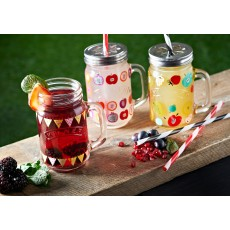 Kilner 400ml/0.4L Fruit Cocktail Handled Jar