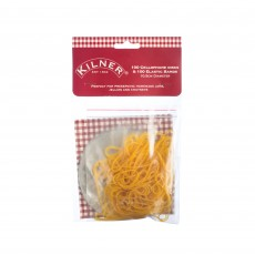 Kilner Pack of 100 Cellophane Discs & 100 Elastic Bands