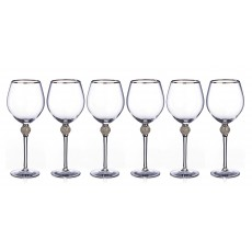 Newgrange Living Platinum Diana Set of 6 Wine Goblets