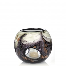 Newgrange Living Black Snowcap 13.5cm Tealight Bowl