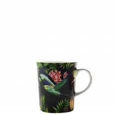 Maxwell & Williams Cashmere Birds of Paradise Black 330ml Mug