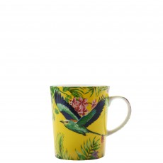 Maxwell & Williams Cashmere Birds of Paradise Yellow 330ml Mug