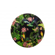 Maxwell & Williams Cashmere Birds of Paradise Black 19cm Plate