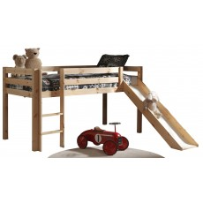 Vipack Pino Mid Sleeper Bed With Slide Pine