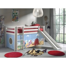 Vipack Pino Mid Sleeper Bed With Slide White