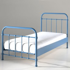 Vipack New York Single (90cm) Bedstead Blue
