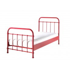Vipack New York Single (90cm) Bedstead Red