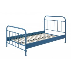 Vipack New York Small Double (120cm) Bedstead Blue