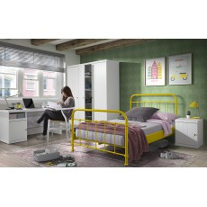 Vipack New York Small Double (120cm) Bedstead Yellow