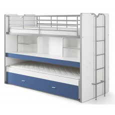 Vipack Bonny High Sleeper With Desk & Pull Out Bed Blue