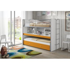 Vipack Bonny High Sleeper With Desk & Pull Out Bed Orange