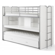 Vipack Bonny High Sleeper With Desk & Pull Out Bed White