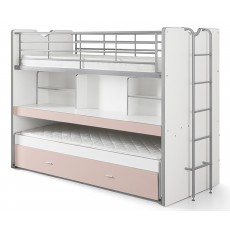 Vipack Bonny High Sleeper With Desk & Pull Out Bed Light Pink