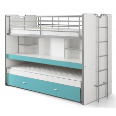 Vipack Bonny High Sleeper With Desk & Pull Out Bed Turquoise