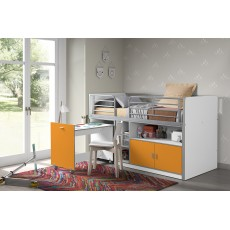 Vipack Bonny Mid Sleeper With Pull Out Desk Orange