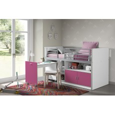 Vipack Bonny Mid Sleeper With Pull Out Desk Fuchsia