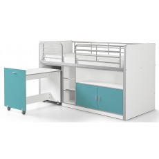Vipack Bonny Mid Sleeper With Pull Out Desk Turquoise