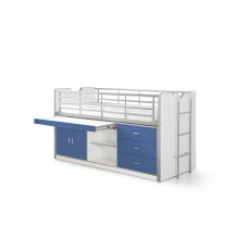 Vipack Bonny Mid Sleeper With Slide Out Desk Blue