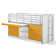 Vipack Bonny Mid Sleeper With Slide Out Desk Orange