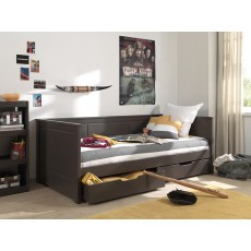 Vipack Pino Captain Single (90cm) Bed Taupe