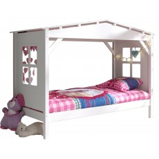 Vipack Pino Cabin House Shaped Single (90cm)  Bed White